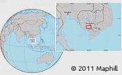 Gray Location Map of Phumĭ Âmpĭl Krânhĕnh