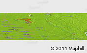 """Physical Panoramic Map of the area around 11°9'41""""N,106°19'29""""E"""