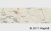 """Shaded Relief Panoramic Map of the area around 11°9'41""""N,106°19'29""""E"""