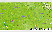 """Physical 3D Map of the area around 11°9'41""""N,107°10'30""""E"""