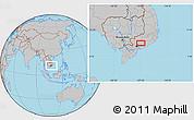 Gray Location Map of Biên Hòa