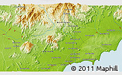 """Physical 3D Map of the area around 11°9'41""""N,108°1'30""""E"""