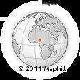 Outline Map of Bauchi, rectangular outline