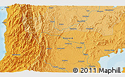 Political 3D Map of Tabon