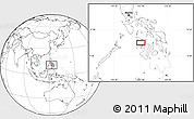 Blank Location Map of Roxas