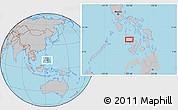 Gray Location Map of Roxas