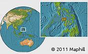 Satellite Location Map of Roxas