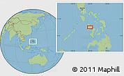 Savanna Style Location Map of Roxas