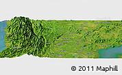 Satellite Panoramic Map of Roxas