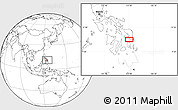 """Blank Location Map of the area around 11°9'41""""N,125°1'30""""E"""