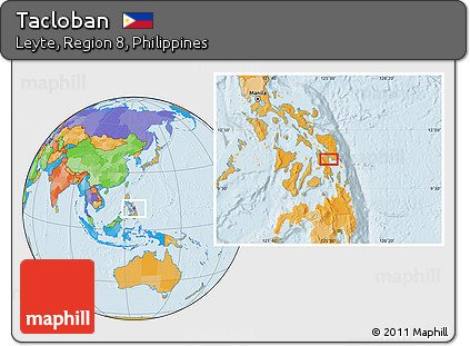 Tacloban Philippines Map.Free Political Location Map Of Tacloban