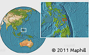 """Satellite Location Map of the area around 11°9'41""""N,125°1'30""""E"""