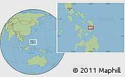 "Savanna Style Location Map of the area around 11°9'41""N,125°1'30""E"