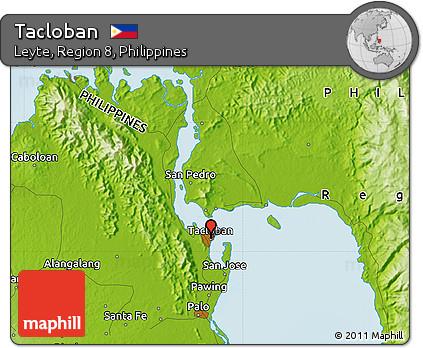 Tacloban Philippines Map.Free Physical Map Of Tacloban