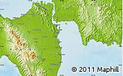 Physical Map of Tacloban