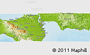 """Physical Panoramic Map of the area around 11°9'41""""N,125°1'30""""E"""