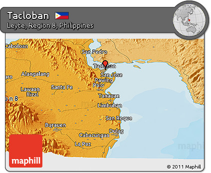 Tacloban Philippines Map.Free Political Panoramic Map Of Tacloban