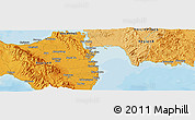 """Political Panoramic Map of the area around 11°9'41""""N,125°1'30""""E"""