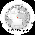 Outline Map of Labé, rectangular outline