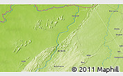 """Physical 3D Map of the area around 11°9'41""""N,1°46'29""""E"""