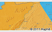 Political 3D Map of Yabiti