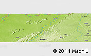 """Physical Panoramic Map of the area around 11°9'41""""N,1°46'29""""E"""