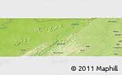 Physical Panoramic Map of Konkobiri