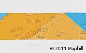 Political Panoramic Map of Konkobiri