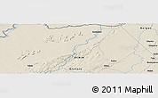 Shaded Relief Panoramic Map of Konkobiri