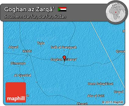 Free Political 3D Map of Goghan Az Zarq
