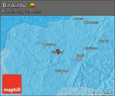Political 3D Map of Birikirou