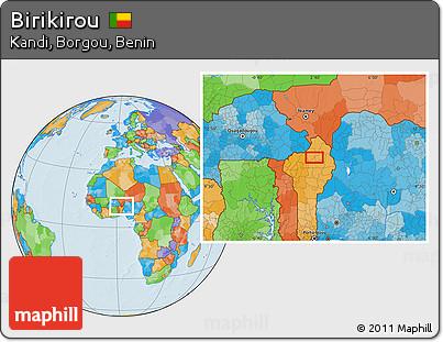 Political Location Map of Birikirou