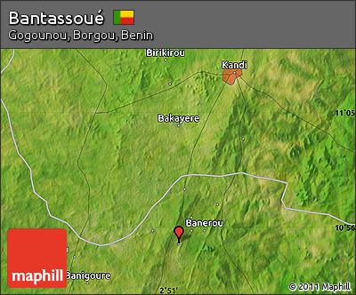 Satellite Map of Bantassoué