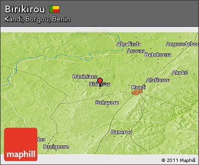 Physical Panoramic Map of Birikirou
