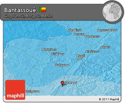 Political Panoramic Map of Bantassoué