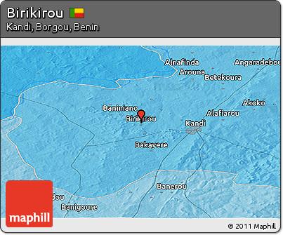Political Panoramic Map of Birikirou
