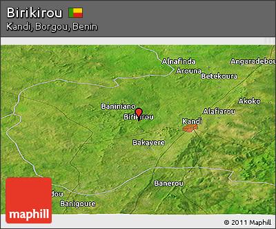 Satellite Panoramic Map of Birikirou