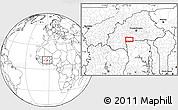 Blank Location Map of Léo
