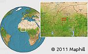 Satellite Location Map of Léo