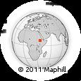 Outline Map of Dangla, rectangular outline