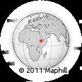 Outline Map of Addis Zemen, rectangular outline