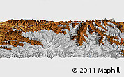 """Physical Panoramic Map of the area around 11°9'41""""N,39°10'29""""E"""