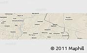 Shaded Relief Panoramic Map of Banikani