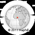 Outline Map of Shanga, rectangular outline