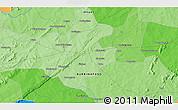 Political 3D Map of Bobo Dioulasso