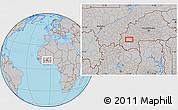Gray Location Map of Bobo Dioulasso