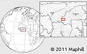 Blank Location Map of Orodara