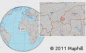 Gray Location Map of Orodara