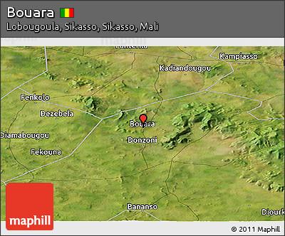 Satellite Panoramic Map of Bouara