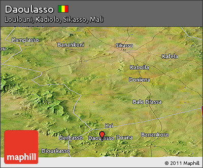 Satellite Panoramic Map of Daoulasso